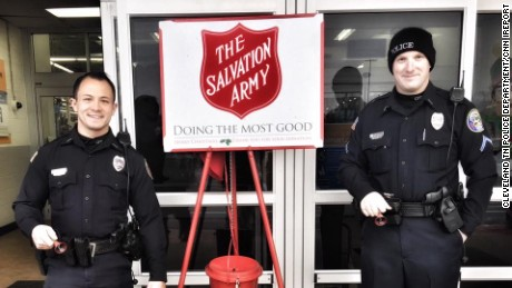 Cleveland, Tennessee police officer Sean Bulow danced to raise money for the Salvation Army
