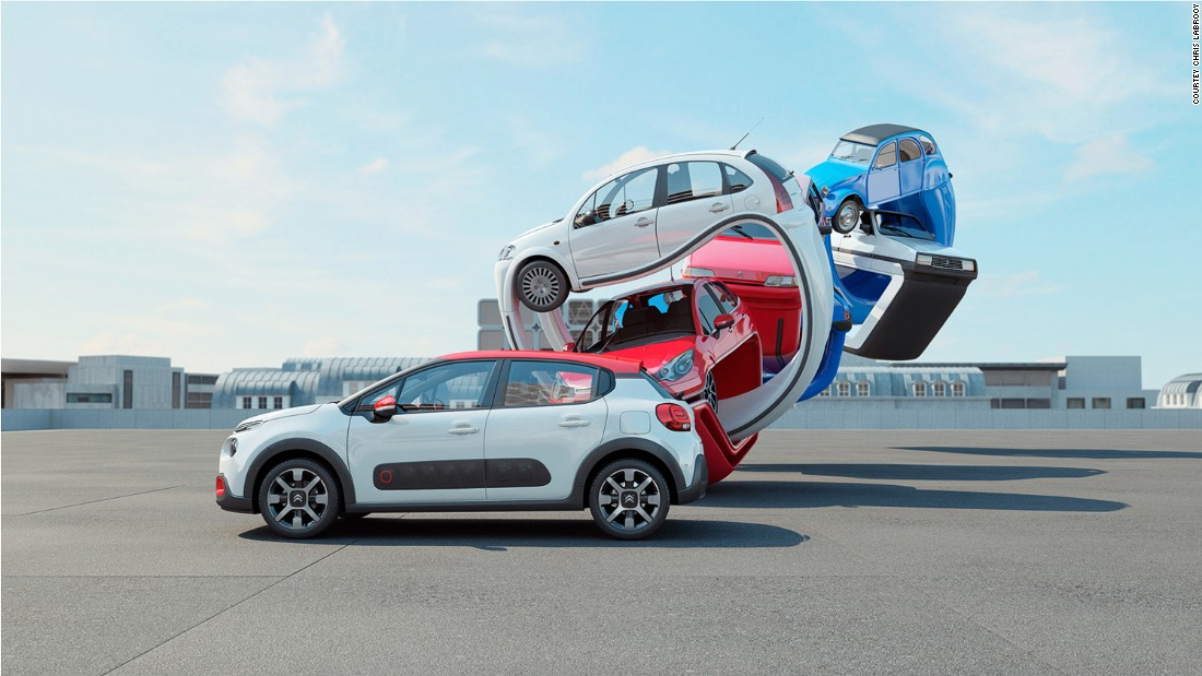 "His ""Citroen C3 Genealogy"" series, was commissioned by the French autos brand."