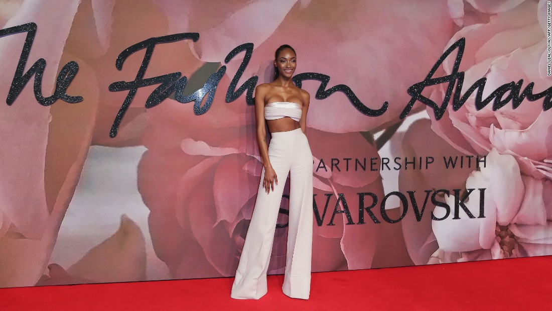 British model Jourdan Dunn was named Model Of The Year at the 2015 British Fashion Awards.