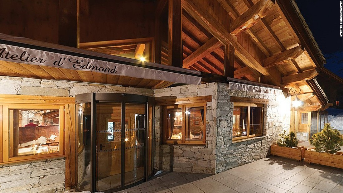 "<a href=""http://www.atelier-edmond.com/en/"" target=""_blank"">L'Atelier d'Edmond</a>, in <em>V</em>al d'Isère, France, is a cosy two Michelin-starred restaurant housed in an old farm building. The wooden chalet retains its old-fashioned atmosphere with rooms dressed as a carpenter's workshop or a mountain refuge."