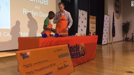 Middle School student wins big money in cooking contest