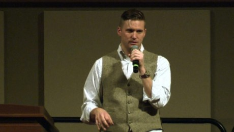 Richard Spencer speaking in December 2016 at Texas A&M University.