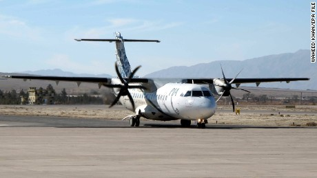 epa05663761 (FILE) A file photo dated 15 January 2011 showing a Pakistan International Airlines (PIA) ATR 42 turboprop passenger plane preparing to take off in Quetta, Pakistan. According to local media reports 07 December 2016, a  Pakistan International Airlines (PIA) ATR 42 plane with flight number PK-661 with more than 40 people on board has crashed in the north of the country. A spokesperson for the PIA said that an emergency response centre was activated and all resources possible were being mobilised to locate the aircraft. The PIA flight PK-661 was on its way from Chitral to Islamabad.  EPA/WAHEED KHAN