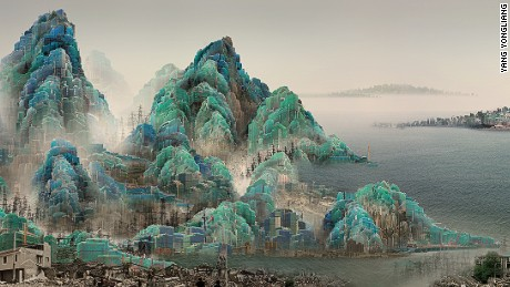 Yang Yongliang's digital landscapes come to life