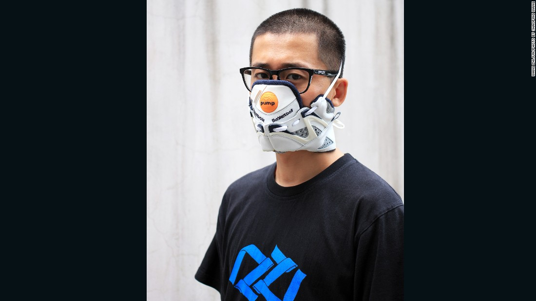 """I like to alternate between brands,"" says Wang. ""This is made from a pair of Reebok Pumps."""