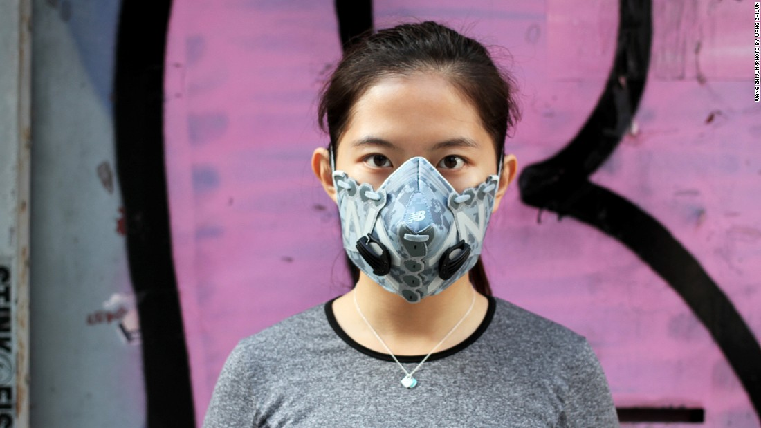 "Wang's girlfriend often models his masks. ""At first, she couldn't understand why on earth I would destroy a perfectly good pair of shoes,"" says Wang. ""But she gets it now. So do my parents, and friends. They still sit next to me in disbelief when I work on a new mask, but they get it."""