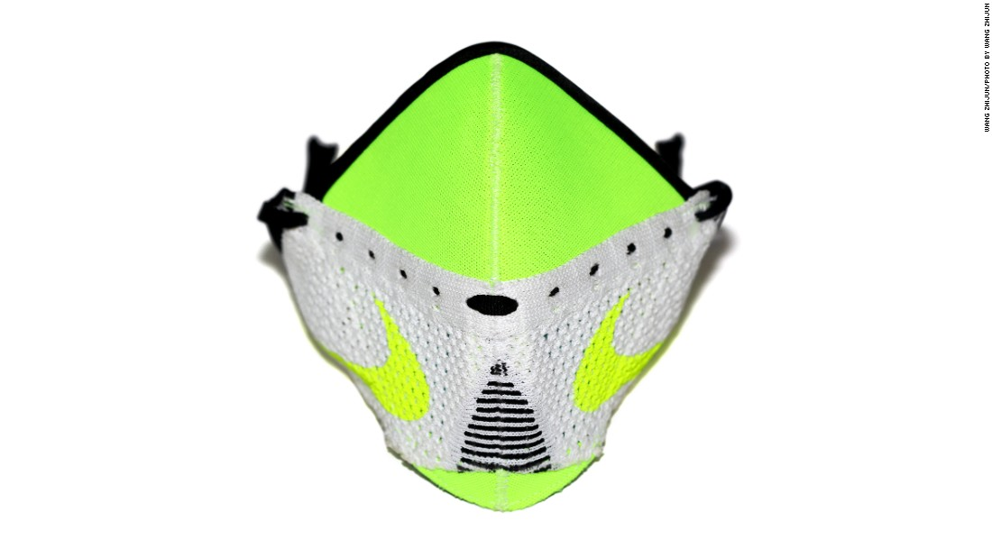 Wang used a Nike jacket combined with a Nike Flyknit racer silo shoe for his first mask. His later ones were exclusively made of sneakers.