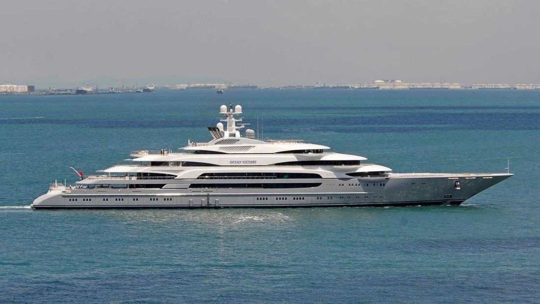 Russian billionaire Viktor Rashnikov's Ocean Victory (140 meters/459 feet) rounds out the top 10 after El Mahroussa and Yas.