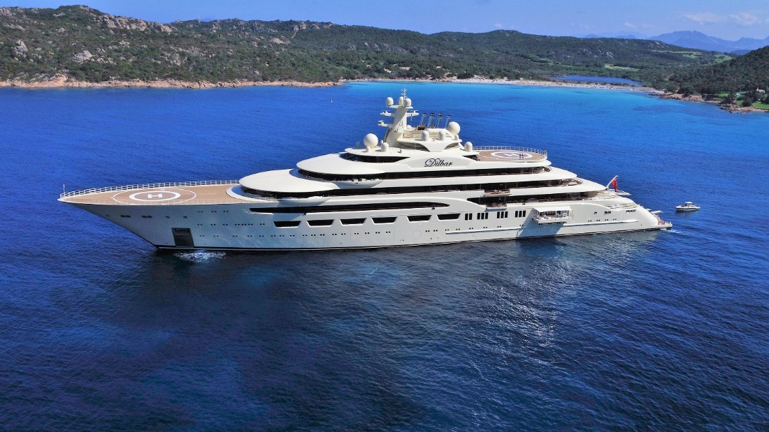 Formerly known as Project Omar, Dilbar was launched this year for Russian billionaire Alisher Usmanov. Measuring 156 meters (511 feet) in length, it has the largest gross tonnage -- the measure of internal volume -- at 15,917 GT, according to Boat International.