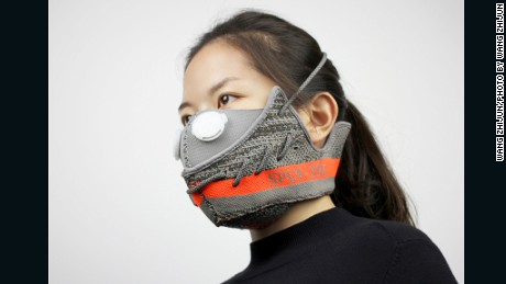 How limited edition sneakers designed by Kanye West are helping people breathe in China