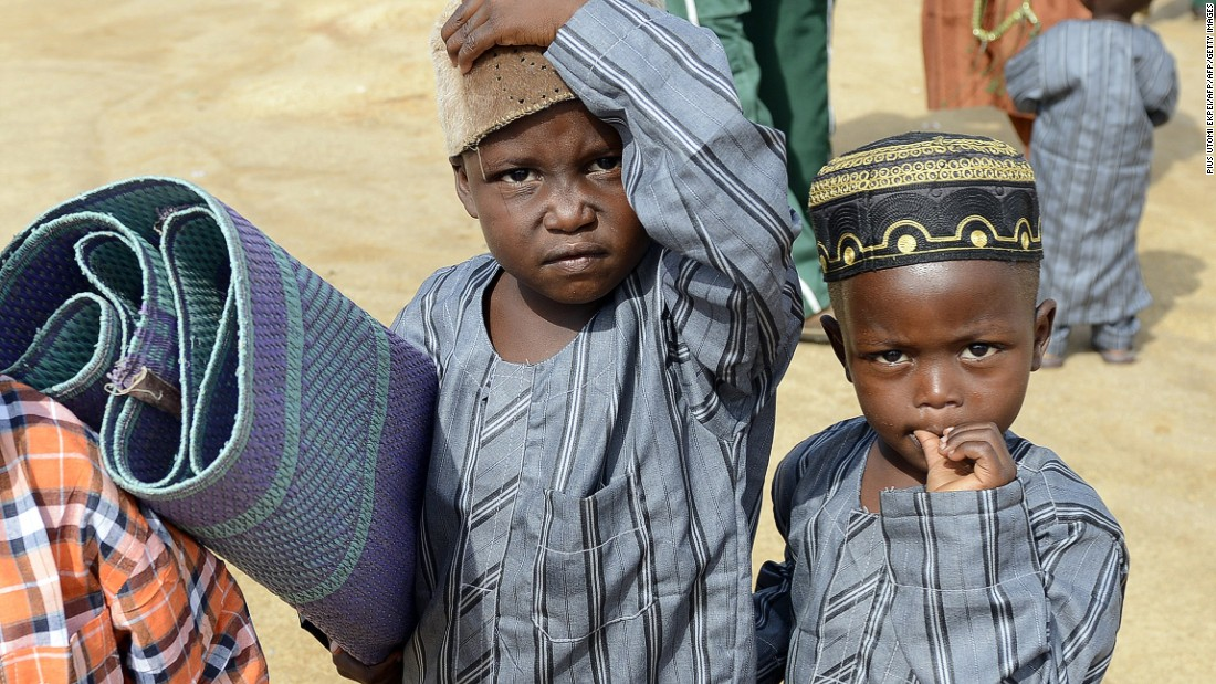 Seven-in-ten Nigerians say gender equality and poverty will be better for the next generation.<br /><br />Pictured here, Muslim boys arrive with a prayer mat in Nigeria's central city of Jos to mark Eid al-Fitr in July 2015.