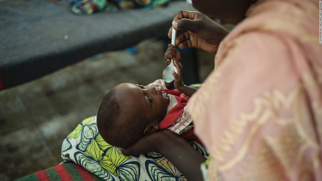 This optimism extends to health care too, as nearly 90% of Nigerians believe health care will be better for the next generation.<br /><br />Pictured here, a woman feeds her young baby suffering from severe malnutrition in the Gwangwe district of Maiduguri, the capital of Borno State, northeastern Nigeria, in September 2016.