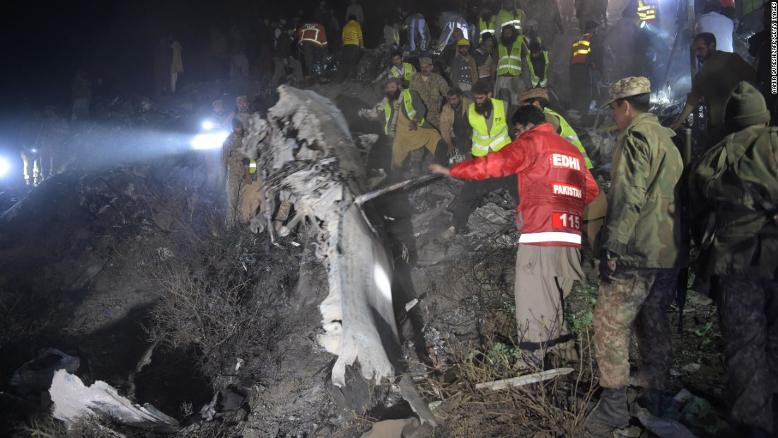 "<a href=""http://www.cnn.com/2016/12/07/asia/pakistan-missing-plane/index.html"" target=""_blank""> Pakistan International Airlines flight Flight PK-661</a> crashed near Abbottabad, Pakistan, killing all 47 people on board, according to the airline. The airline said the flight was carrying 42 passengers and five crew members when it lost contact with a control tower on its way from Chitral to Islamabad. It crashed into the mountains near Abbottabad and Havelian."