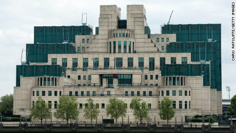 The headquarters of the Secret Intelligence Service, or MI6, sits on the south bank of the River Thames.