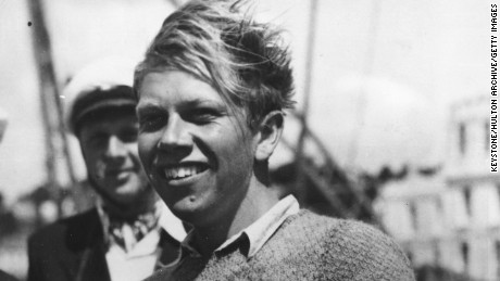 Paul Elvstrom won the first of four consecutive Olympic sailing golds at London 1948.
