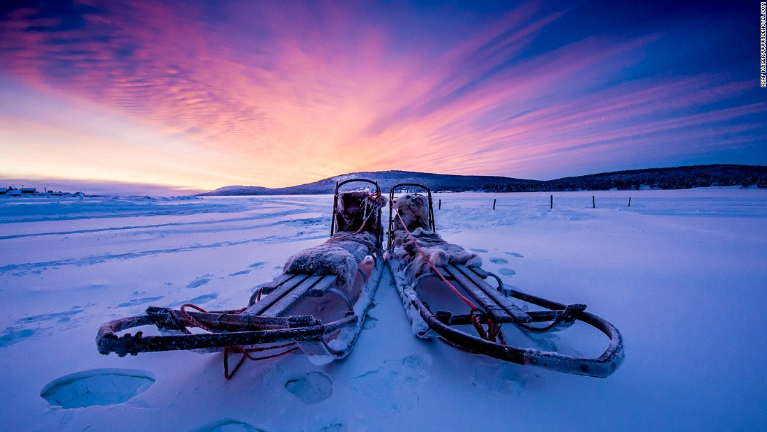 Winter activities on offer include dog sledding, while in summer guests can go hiking under the midnight sun.