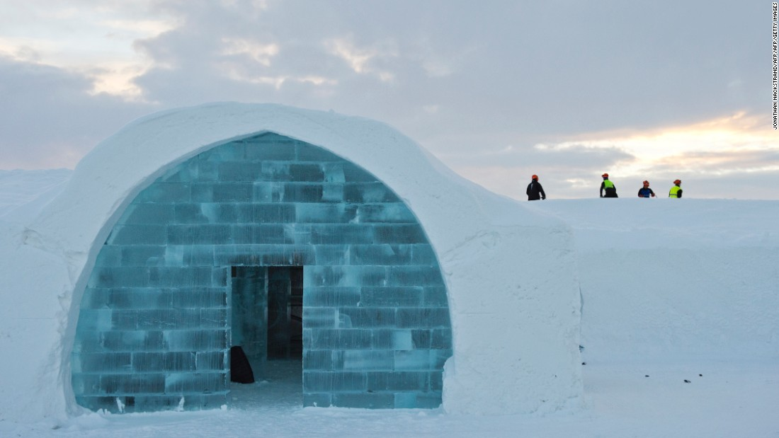 "Luvattumaa isn't the only hotel of its kind. Pictured is <a href=""http://edition.cnn.com/2016/12/08/hotels/sweden-icehotel-2017/"">ICEHOTEL 365</a> in the village of Jukkasjarvi in Swedish Lapland that is open all year round having been built and rebuilt since 1989. It also hosts weddings -- about 100 annually."