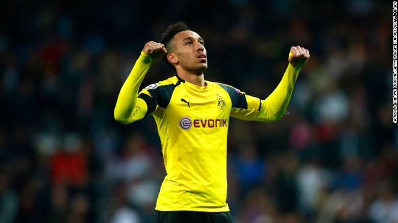 Pierre-Emerick Aubameyang just can't stop scoring goals at the moment ... he netted in Wednesday's 2-2 Champions League draw against Real Madrid, taking the Borussia Dortmund's striker overall goal tally for the season to 19 in all competitions.
