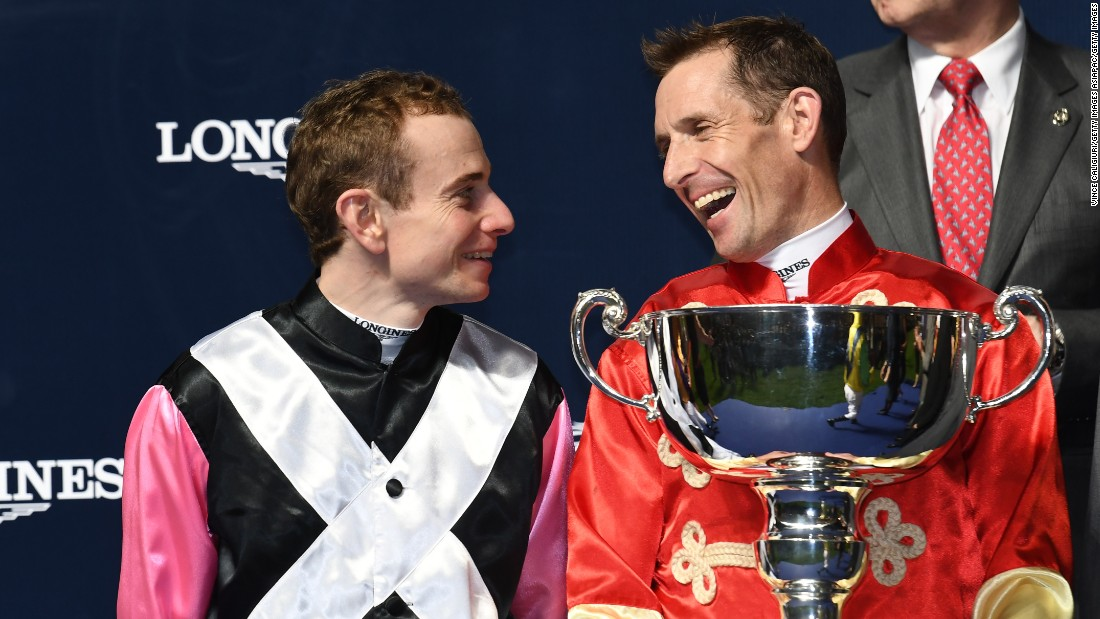 Australian Hugh Bowman (right) took victory in the four-race competition, with Ryan Moore (left) finishing runner-up.