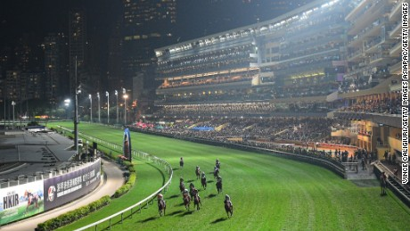 HONG KONG - DECEMBER 07:  General view during Longines International  Jockeys' Championship at Happy Valley Racecourse on December 7, 2016 in Hong Kong, Hong Kong.  (Photo by Vince Caligiuri/Getty Images)