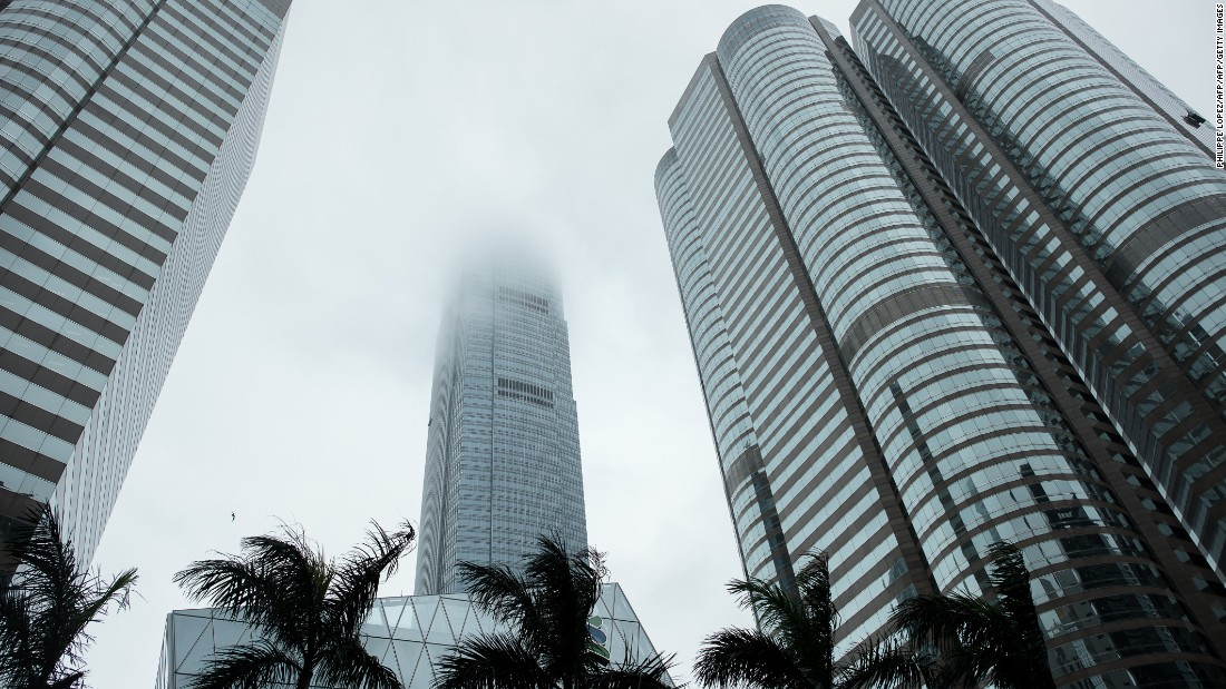 The International Finance Centre (IFC) tower (center) is one of Hong Kong's most iconic buildings.