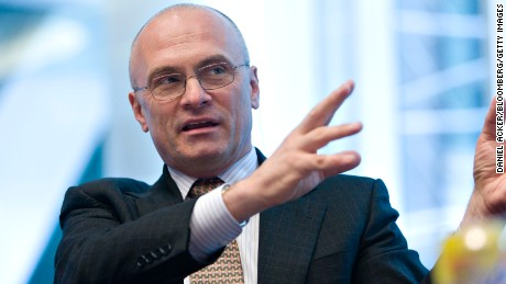 UNITED STATES - MARCH 10:  Andrew Puzder, chief executive officer of CKE Restaurants Inc., speaks during an editorial board meeting in New York, U.S., on Tuesday, March 10, 2009. CKE operates and franchises Carl's Jr., and Hardee's restaurants in the United States and abroad.  (Photo by Daniel Acker/Bloomberg via Getty Images)