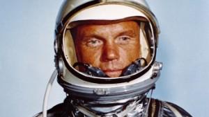 Astronaut John H. Glenn, Jr., in his Mercury flight suit. Credit: NASA