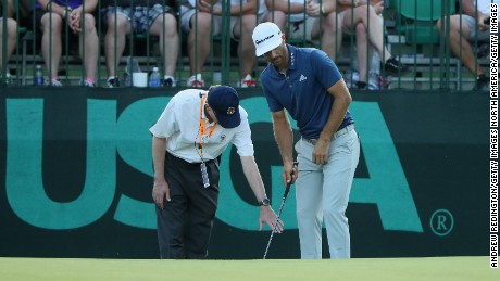 Dustin Johnson was eventually penalized a stroke for a rule infringement in June's US Open at Oakmont.