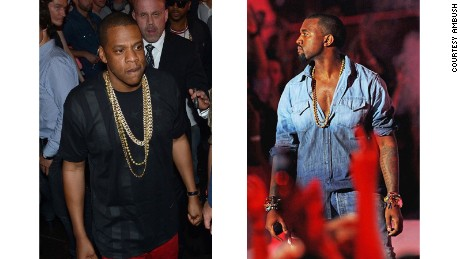 AMBUSH attracts celebrity clients such as Jay Z, left, and Kanye West.