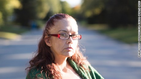 "Julie Estrada-Medina, 48, a recently released prisoner, was approved for Medicaid in October. She felt that she had to choose between her sobriety ""or my freedom, one of the two."""