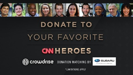 Donations matched to the 2016 Top 10 CNN Heroes