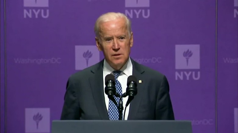 Vice President Joe Biden expresses his disappointmetn in the campaign.