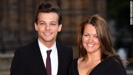 Louis Tomlinson and mother Johannah Deakin Believe In Magic Cinderella Ball, London, Britain - 10 Aug 2015 (Rex Features via AP Images)