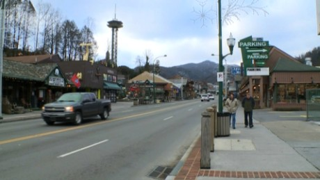 Cars and pedestrians returned to Gatlinburg on Friday as the city works to recover from wildfires.