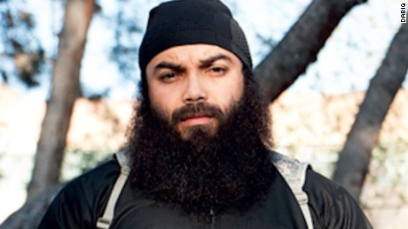 Boubaker Hakim seen in a picture from ISIS' Dabiq magazine.