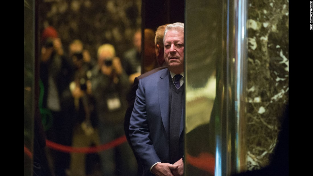 "Former US Vice President Al Gore arrives at Trump Tower in New York on Monday, December 5. Gore, one of the most vocal advocates of fighting climate change, <a href=""http://www.cnn.com/2016/12/05/politics/ivanka-trump-al-gore-climate-change/"" target=""_blank"">met with President-elect Donald Trump</a> and his daughter, Ivanka Trump. ""I had a lengthy and very productive session with the President-elect,"" Gore said, according to a pool report. ""It was a sincere search for areas of common ground."""