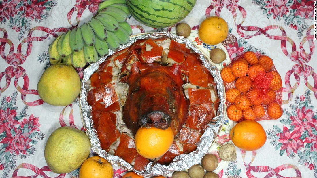 """Preparing lechon is a bit of an event in itself -- from stuffing the hog with onions, lemongrass, and garlic to preparing the fire,"" says expat Filiipino and executive chef Carlo Lamagna."