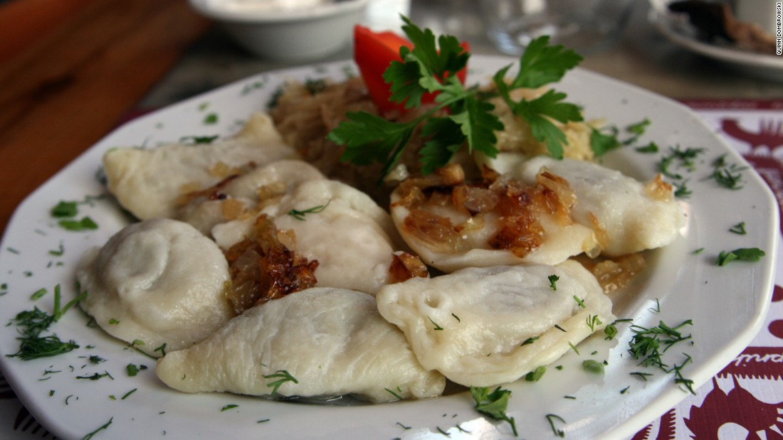 Dumplings, or pierogi - stuffed with either mashed potatoes, cottage cheese or sauerkraut - are the traditional holiday treat of choice in Poland.