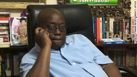 Nana Akufo-Addo takes the concession phone call from President Mahama.
