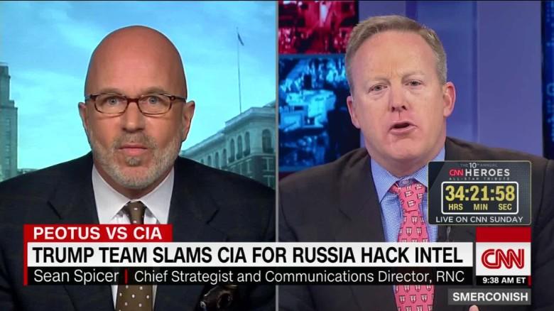 Spicer defends Trump slam of CIA intel _00055424