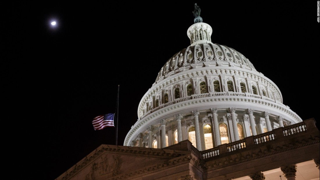 "Flags at the US Capitol are lowered to half-staff in honor of former astronaut and longtime US Sen. John Glenn in Washington on Thursday, December 8. Glenn, the first American to orbit the Earth, <a href=""http://www.cnn.com/2016/12/08/health/john-glenn-dead/"" target=""_blank"">died Thursday</a> at the age of 95. <a href=""http://www.cnn.com/2016/12/08/us/gallery/john-glenn/index.html"" target=""_blank"">John Glenn: Ex-astronaut, US senator dies at 95</a>."