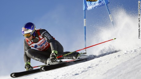 France's Alexis Pinturault competes during the FIS Alpine World Cup Men Giant Slalom on December 10, 2016 in Val d'Isere, in the French Alps. / AFP / STRINGER        (Photo credit should read STRINGER/AFP/Getty Images)