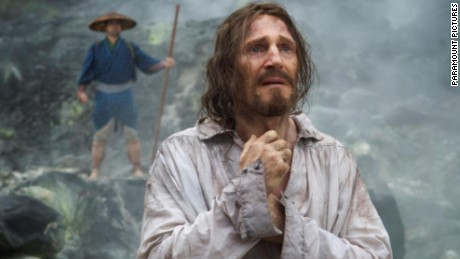 "Liam Neeson stars as Father Cristóvão Ferreira in 'Silence,"" a story about two Jesuit priests who face persecution when they travel to Japan to locate their mentor and propagate Catholicism."