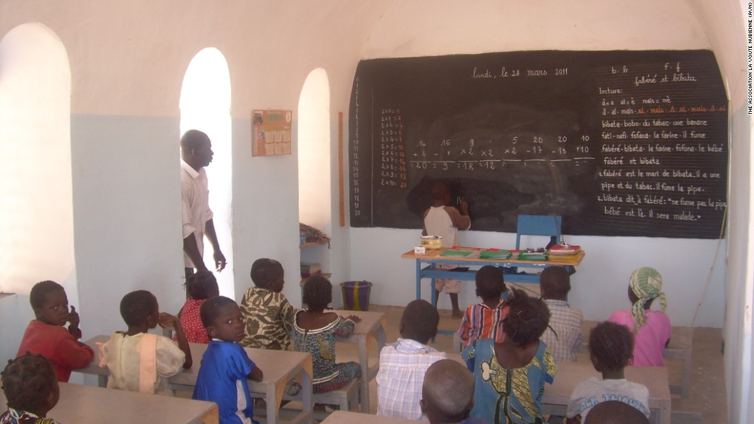The program also goes beyond homes to provide public and community buildings such as this literacy center.