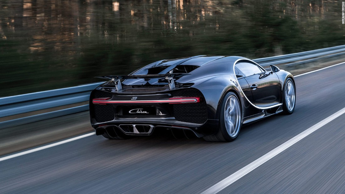 The Bugatti Chiron is as powerful as you would expect from a car named after a mythological centaur. At 1,479hp, it makes just about every production car on the planet look feeble and, with a 0-124mph sprint of 6.5 seconds, it makes them look slow, too. It's no wonder it requires 10 radiators to keep its 8.0-litre engine cool.