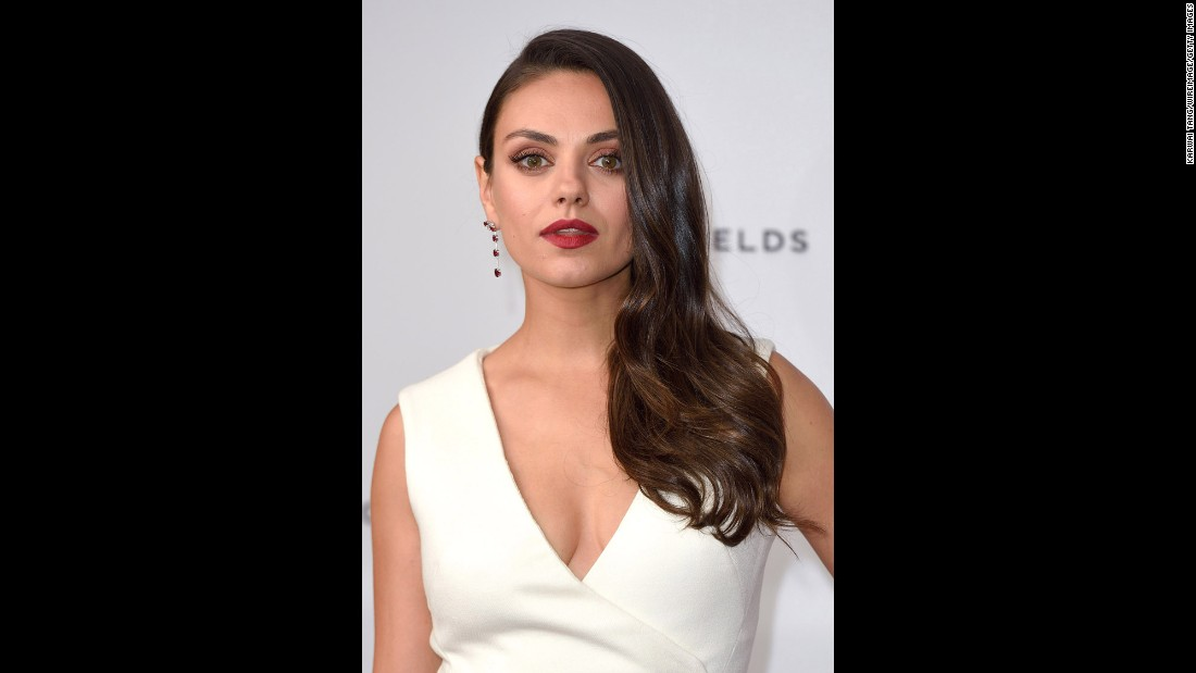 Actress Mila Kunis in 9.32 carat Mozambican ruby earrings from Fabergé's Devotion collection. Recent discoveries of ruby and emerald in Africa are challenging traditional sources, such as Colombia for emeralds and Myanmar for ruby.