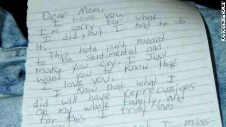 Dylann Roof's letter to his mom was among the exhibits released during his trial.
