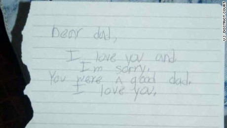 Dylann Roof's letter to his dad was among the exhibits released during his trial.