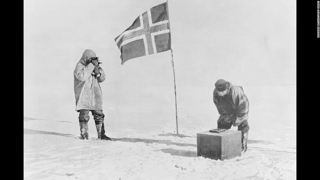On December 14, 1911, a Norwegian team led by Roald Amundsen became the first explorers to reach the South Pole. Thirty-four days later, a British team led by Robert Falcon Scott arrived, only to find out it was second.
