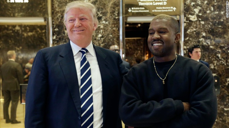Image result for kanye and donald trump